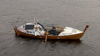 Atlantic rower in hand-built boat rescued off Land