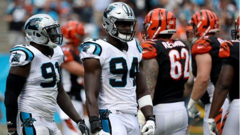 NFL: Efe Obada makes dream start to NFL career with Carolina Panthers