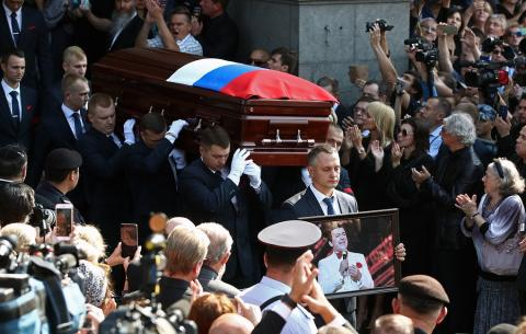 Farewell to Iosif Kobzon passes in Moscow