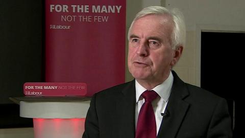 John McDonnell condemns 'call off the dogs' comments