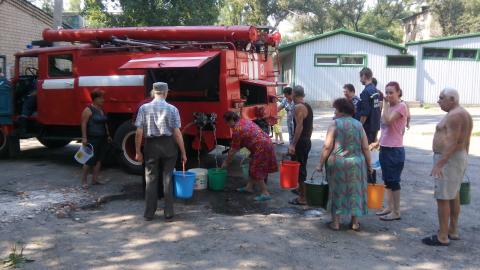 Drinking water supplied to Avdiivka from reservoir