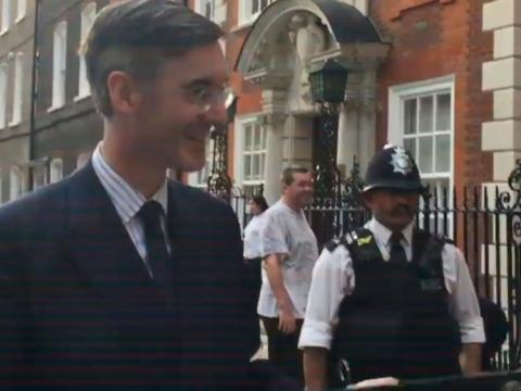 Rees-Mogg children told 'your daddy's hated' in protest