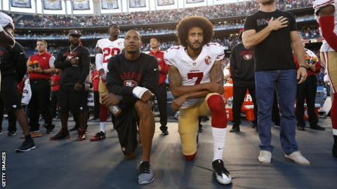 Colin Kaepernick: Kanye West urges NFL player to meet with Donald Trump
