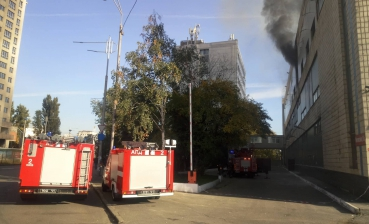 Transsignal plant caught fire in Kyiv, there are victims, - media