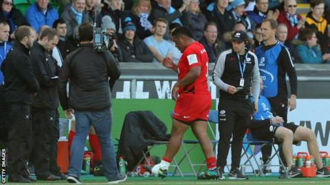 Mako Vunipola: England and Saracens prop to miss autumn Tests with calf strain