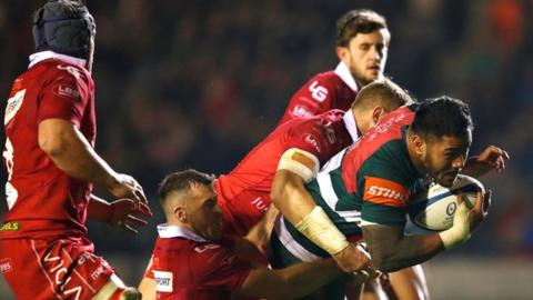 European Rugby Champions Cup: Leicester Tigers 45-27 Scarlets