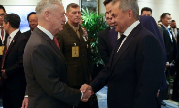 U.S.defense minister Mattis and his Russian colleague Shoigu meet in Singapore
