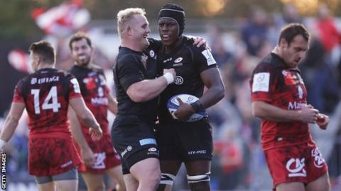 European Rugby Champions Cup: Saracens 29-10 Lyon OU