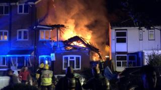 Harrow fire: Person missing in suspected gas blast