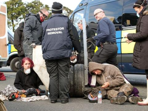 Fracking begins in Lancashire amid protests