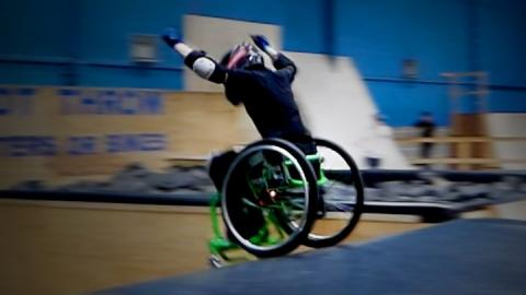 Wheelchair backflipping teen wins Radio 1 award