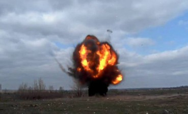 82 mm mines hit Krymske in Donbas
