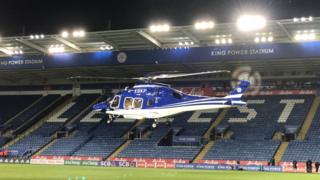 Leicester City helicopter