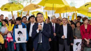 Hong Kong activists on trial for pioneering the