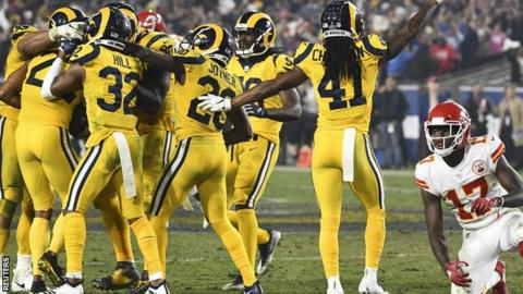 14 touchdowns and 105 points - Rams beat Chiefs in NFL classic