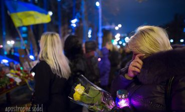 Action in memory of victims of Revolution of Dignity takes place on Maidan Nezalezhnosti