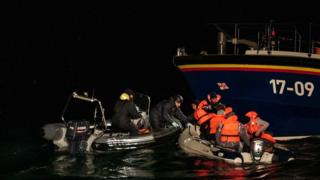 Eight 'migrants' rescued after cross-channel air and sea search