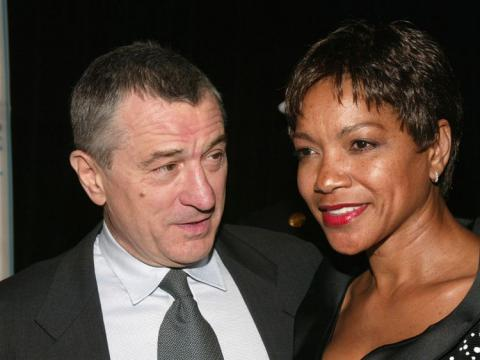 De Niro and wife