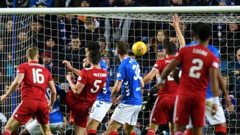 Both sides have man sent off as Aberdeen defeat Rangers