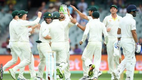 India lose Kohli late on but take control of first Test against Australia