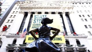 Fearless Girl statue gets new spot outside NY Stock Exchange