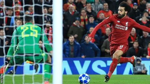 Salah goal sends Liverpool into Champions League last 16