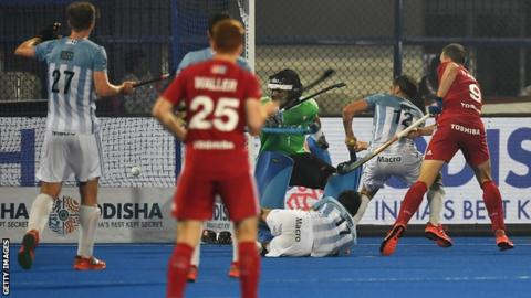 England beat Argentina to reach semis Hockey World Cup