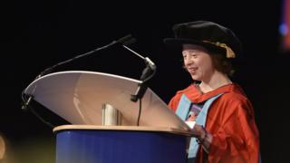 Sarah Gordy MBE: Actor in honorary degree first