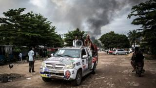 DR Congo poll: Blaze hits electoral depot as tense vote nears