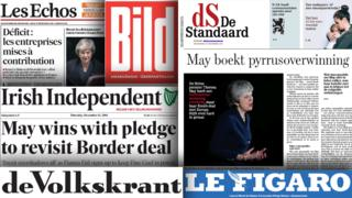 European media unimpressed by May confidence vote