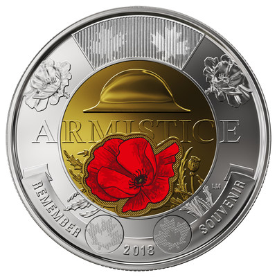 /R E P E A T -- The Royal Canadian Mint invites the public to trade their change for the new 100th anniversary of the Armistice commemorative circulation coin/