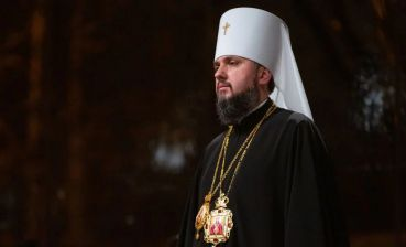 Metropolitan Epifaniy has his first divine service in Kyiv