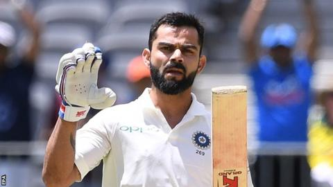 Australia build lead against India after Kohli century
