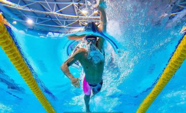 Ukrainian swimmer Mykhailo Romanchuk wins gold at World Championships in China