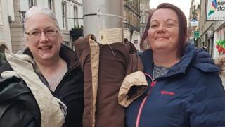 Jackets left on lampposts in Inverness for homeless