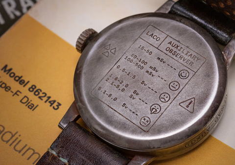 Hit the trackless nuclear wastes with this Laco RAD-AUX watch