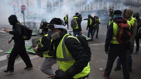 514 people arrested during Gilets jaunes protests in Paris