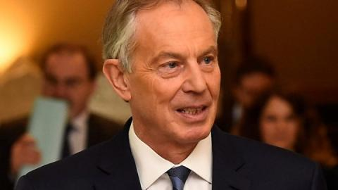 Theresa May condemns Tony Blair