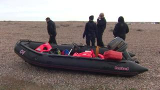 Migrant search after empty dinghy found on Kent beach