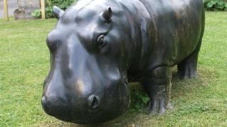 Hippo sculpture stolen from Chilstone ornament makers