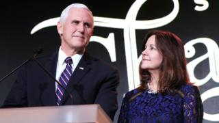 Pence condemns 'offensive' LGBT criticism of his wife's job