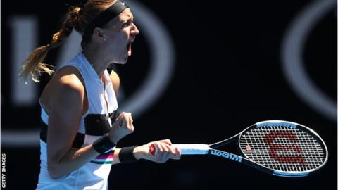 Kvitova storms into Australian Open quarter-finals