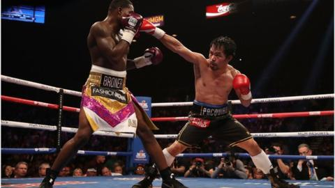 Manny Pacquiao beats Adrien Broner to retain WBA world title on points