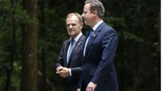 Brexit: David Cameron warned by Donald Tusk over