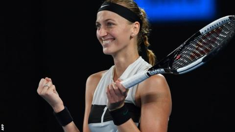 Kvitova outclasses Collins to reach Australian Open final
