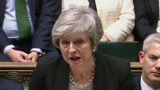 Brexit: MPs back May's bid to change deal