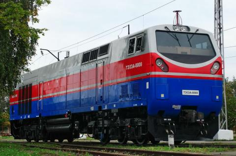 General Electric locomotive stuck on Ukrainian railway, - ex-Transport Ministry official