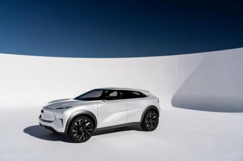 The graceful QX Inspiration Concept previews Infiniti's electric lineup