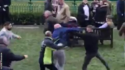 Haydock Park: Mass brawl among 50 spectators
