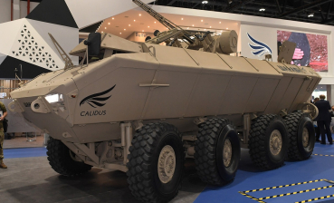 Al-Wanash armored personnel carrier with Ukrainian combat tower presented in UAE